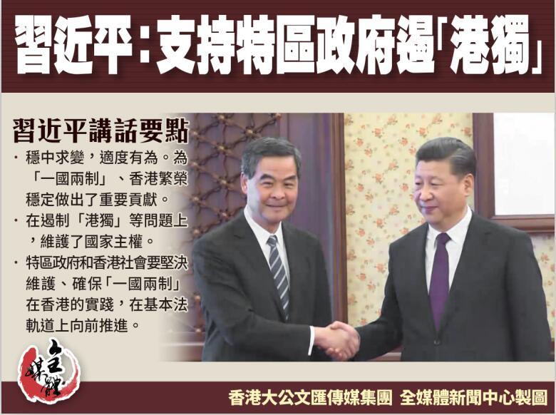 習近平: 中央政府充分肯定梁振英和特區政府的工作b